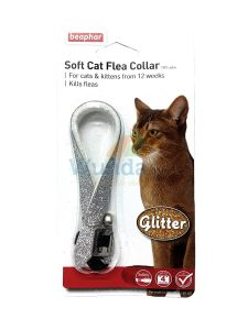 BEAPHAR GLITTER CAT FLEA COLLAR WITH BELL 3 PACK UP