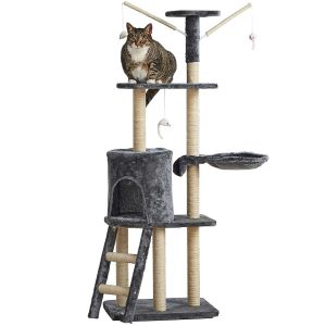 Milo & Misty 3 Platform Cat Tree Scratching Post Activity Centre