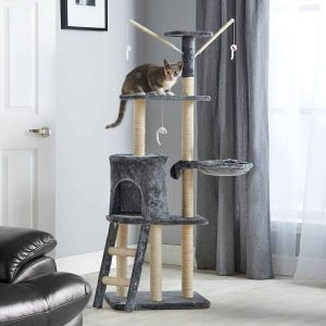 Milo & Misty 3 Platform Cat Tree Scratching Post Activity Centre Review
