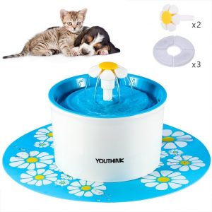 YOUTHINK Auto Circulating 1.6L Silent Pet Fountain